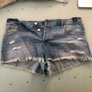 NWT Abercrombie high waisted jean shorts